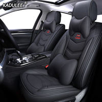 KADULEE Leather car seat covers for skoda octavia 2 a5 a7 tour fabia 1 3 karoq rapid spaceback felicia Automobiles Seat Covers