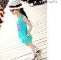 2016 estilo Verão meninas vestido de algodão vestido escavar meninas do bebê vestuário infantil vestido de princesa do bebê roupas de menina