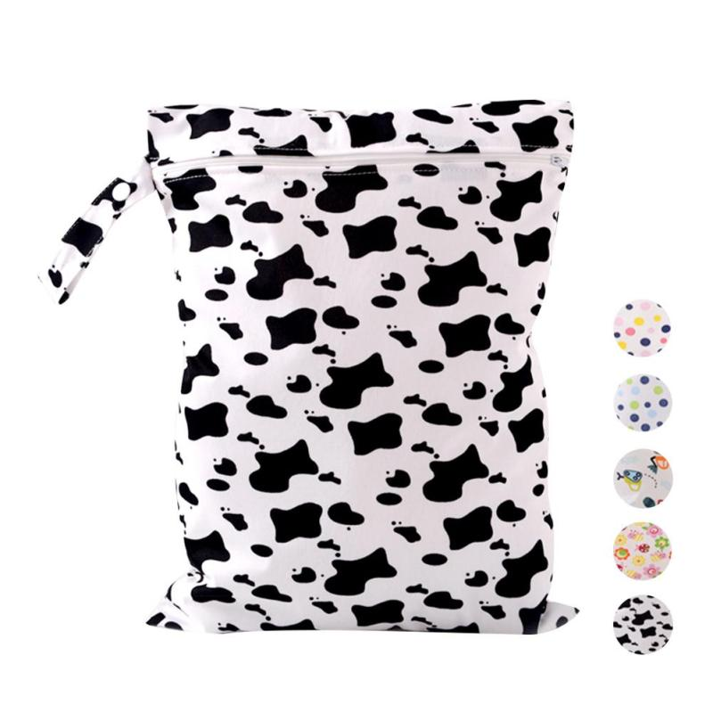 40 * 30cm baby Diaper Bags Cartoon Zippered Wet Dry Bag Nappy Bags for Stroller Mother Mom Backpack for Baby Nappy Storage R4