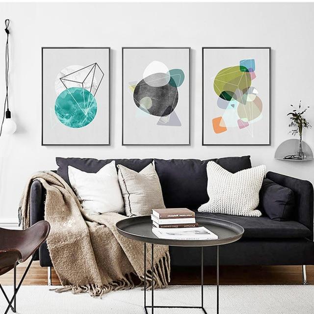 HAOCHU New Nordic Moderne Einfache Abstrakte Geometrische Farbe Blau ...