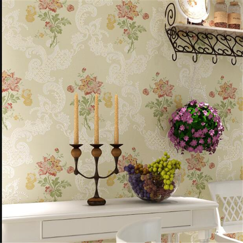 beibehang Aki Nuo high-end pastoral picture living room sandstone non-woven wallpaper bedroom living room background fashion huan nuo
