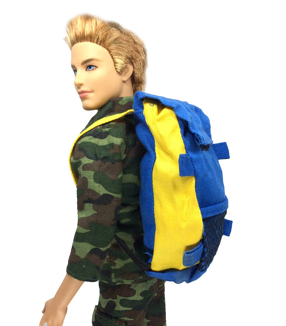NK Unique Prince Doll Knapsack Marines Equipment Bag For Barbie Boy Male Ken Doll For Lanard 1/6 Soldier Finest Present 011D