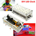 Free Shipping Colorful Digital Tube LED 3 colors for choosing Electronic Clock parts Kit Red/Blue/Green LED DIY KIT 0.8 Inch