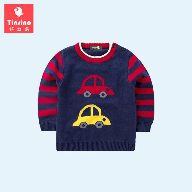 Tinsino Winter Baby Boys Cartoon Sweaters Children Boy Autumn