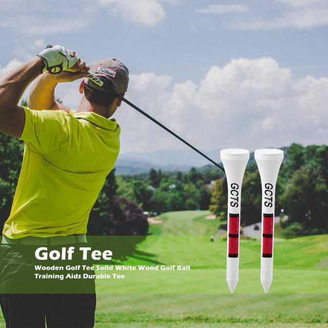 8be33fc81a 100pcs 54mm Golf Tees Wooden Professional System White Striped Digital  Scale Golf Tees Accessories Golf Training Aids