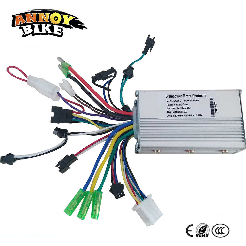 hight resolution of  350w 36v 48v dc 6 mofset brushless controller bldc controller e bike