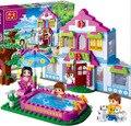Nuevo 2016 Banbao City Girls Dream House Building Blocks Establece 405 unids Ladrillos de Construcción Juguetes Compatible con Lego Amigo Para niñas