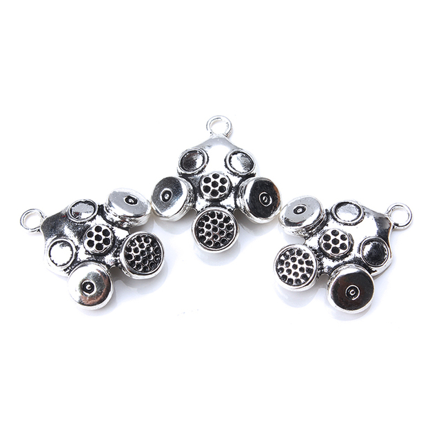 5pcs/lot 33 x 28mm Gas Mask Charms Antique Silver Color for diy charms jewelry accessories necklace pendant findings making