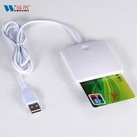 קורא כרטיס חכם USB קל Comm IC/מזהה ה-SIM קורא כרטיסים באיכות גבוהה מפעל סיפק 100 חתיכות משלוח חינם