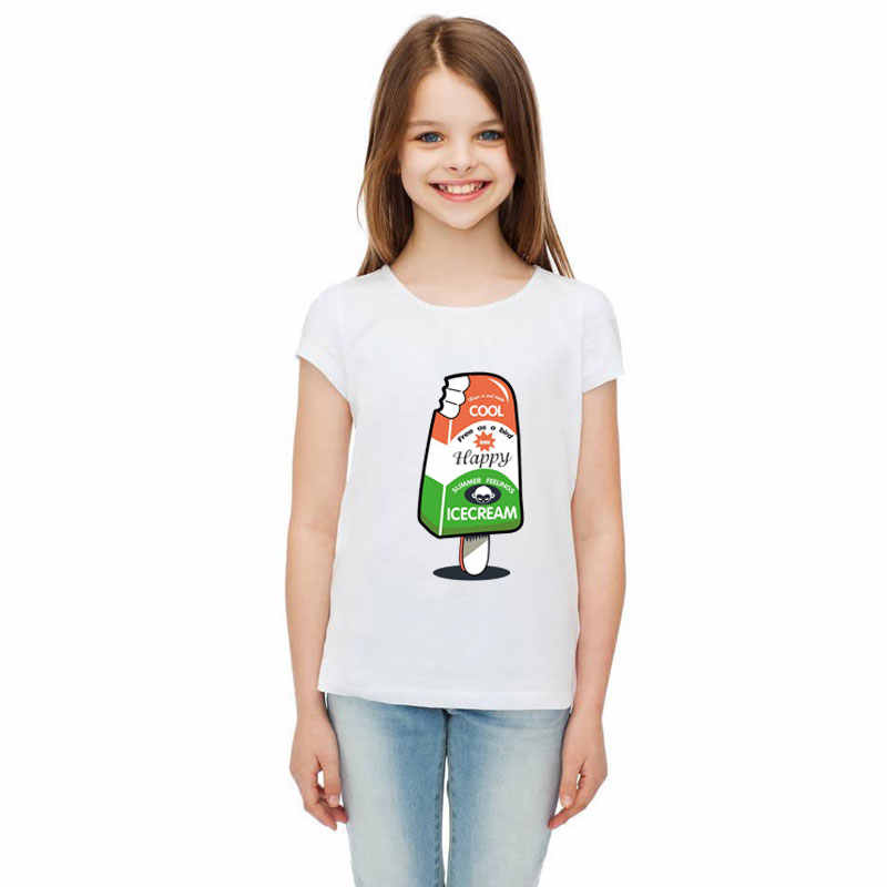 Parche de dibujos animados Prajna, parches de letras de transferencia de calor de helado, pegatinas de vinilo calientes en la camiseta, calcomanía, pedrería para aplicación con plancha, ropa, vestido de bebé