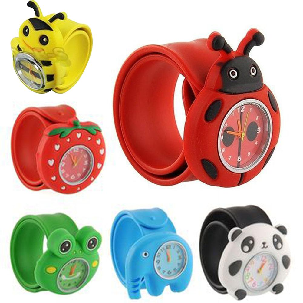 Children Cartoon Watches Clap Table Clap Circle Cute Cartoon Children's Watch Boy Girl Table Jelly Student Electronic Watch Toy