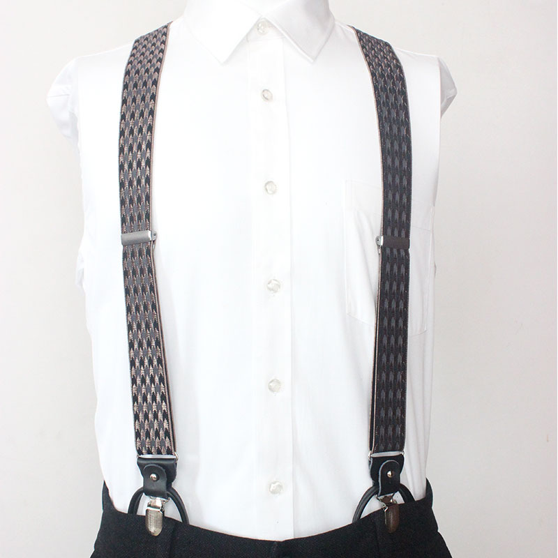 Men's Dual-purpose Suspenders Alloy 3 Clips 6 Button Braces Male Vintage Casual Suspensorio Trousers Strap Dad/Husband's Gift