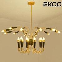 EKOO 24 Lights American minimalist E12/14 LED Modern Chandelier Lights For Living Room living room dining room bedroom