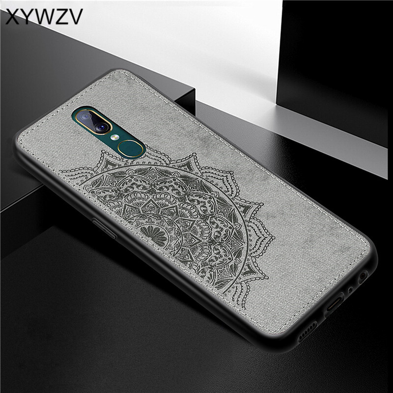 For OPPO A9 Case Shockproof Cover Soft Rubber Silicone Luxury Cloth Texture Phone Case For OPPO A9 Back Cover For OPPO A9 Fundas-in Fitted Cases from Cellphones & Telecommunications