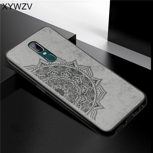 For OPPO A9 Case Shockproof Cover Soft Rubber Silicone Luxury Cloth Texture Phone Case For OPPO A9 Back Cover For OPPO A9 Fundas