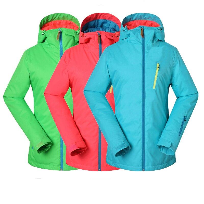Prix pour Femmes hiver veste imperméable ladies professional ski snowboard vestes respirant lumineux couleur 2017 gsou snow ski veste