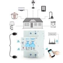 Smart Life 2P 40A pilot Wifi przerywacz/inteligentny przełącznik przeciążenie, zabezpieczenie przed zwarciem dla inteligentnego domu