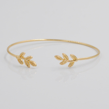 Leaves Gold &amp Silver Plated Bracelets &amp Bangles Fashion Open Bangle
