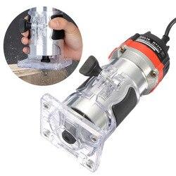 Qualidade 220 v 35000 rpm 530 w 1/4 electric laelétrica mão trimmer laminador de madeira roteador conjunto de ferramentas