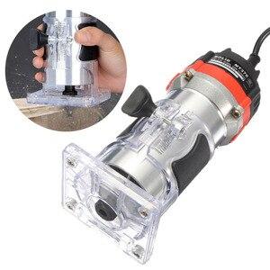 Image 1 - Qualidade 220v 35000rpm 530w 1/4 electric laelétrica mão trimmer laminador de madeira roteador conjunto de ferramentas