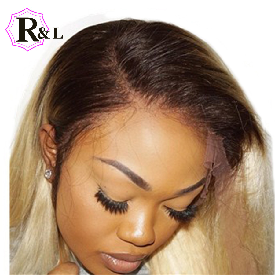 Rulinda 4 613 Ombre Blonde Lace Front Human Hair Wigs With Baby Hair 13 4 Brazilian
