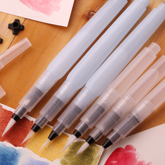 Traditional Calligraphy Art Watercolor Brush Markers 3 pcs Set