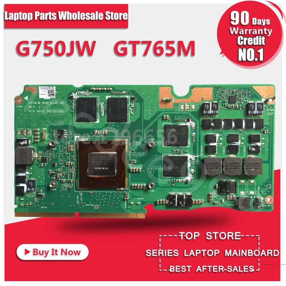 GTX 765M 2GB VGA card For Asus ROG G750J G750Js g750JM laptop card G750JW N14E-GE-A1 GeForce GTX765M Graphic card Video card футболка классическая printio футболка улыбка
