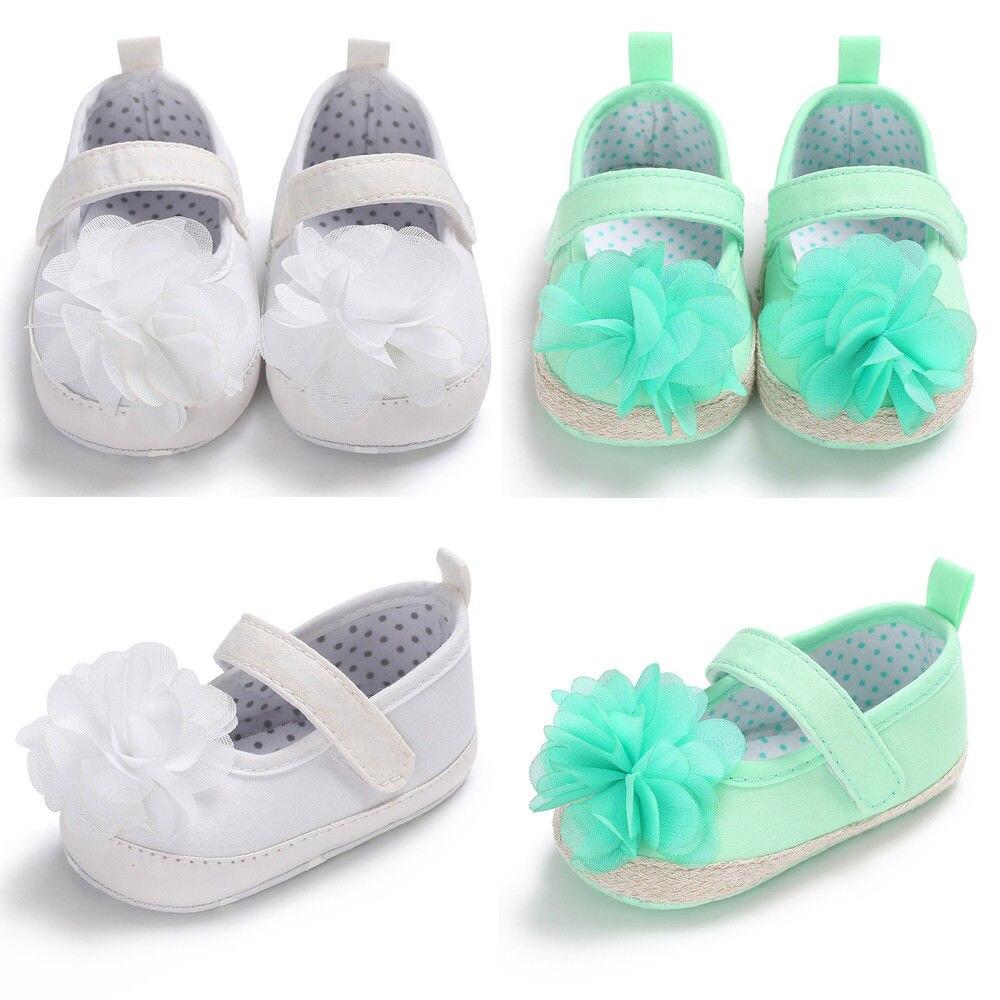 Cute Toddler Baby Shoes Newborn Girls Soft Soled Princess Crib Shoes Prewalker 0-18M