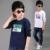 Topos de marca para o Menino de Algodão T-shirt O-pescoço Crianças T Primavera Tees Manga Longa infantil Roupas Kid Casual T shirt 2-12 Carta Tops