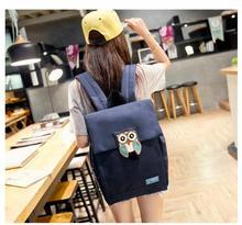 10 шт./лот! Животных Сова женские рюкзаки высокое качество холст рюкзак для ноутбука печати рюкзак