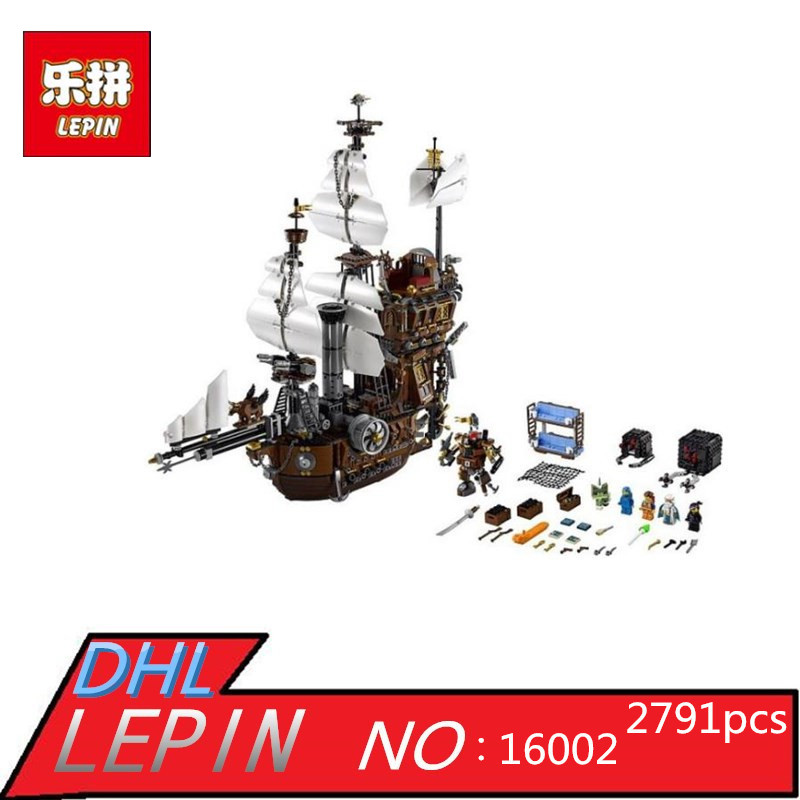 LEPIN 16002 2791pcs Pirate Ship Metal Beard's Sea Cow Model Building Blocks Kids Bricks Toys for Children Boys Gifts Compatible lepin 16002 22001 16042 pirate ship metal beard s sea cow model building kits blocks bricks toys compatible with 70810