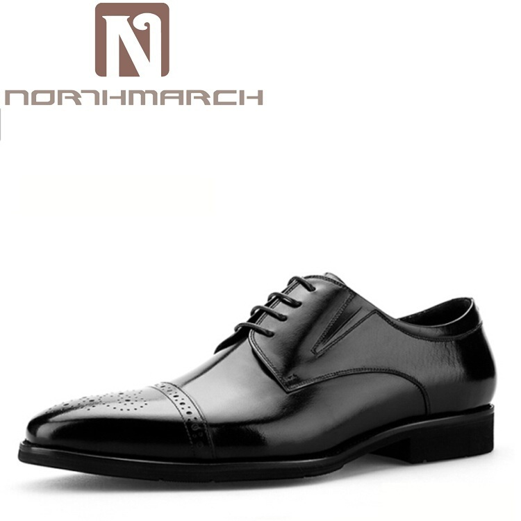 NORTHMARCH Men Shoes Casual Luxury Brand Genuine Leather Black Brown Formal Dress Wedding Business Brogues Shoes Zapatos Hombre new fashion men luxury brand casual shoes men non slip breathable genuine leather casual shoes ankle boots zapatos hombre 3s88