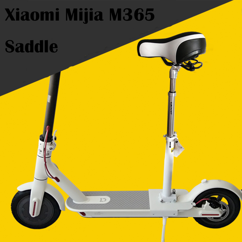 Electric Scooter Skateboard Seat Foldable Saddle for Xiaomi Mijia M365 Electric Scooter Chair Height Adjustable with Seat Bumper original xiaomi mijia qicycle ef1 electric scooter bicycle mini scooter foldable electric bike e bike xiaomi brand scooters