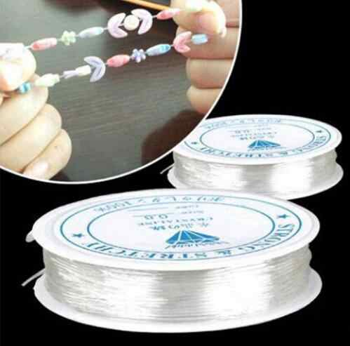 2 ROLL 5M-12M (196-471 inch ) Length 0.5-1.0mm Diameter Crystal Elastic Beading Cord String Thread for DIY Necklace Bracelet