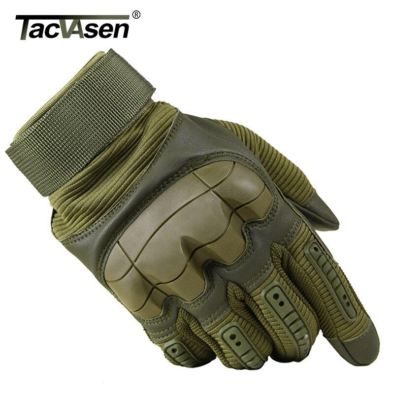 TACVASEN Militaire Tactique Gants Hommes de Combat de L'armée Airsoft Protection Shell Complet Doigt Gants Paintball Gear TD-YWHX-026