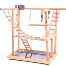Птичьи персы гнездо игровой стенд тренажерный зал попугай манеж качели мост деревянные Подъемные Лестницы деревянные конусы Parakeet Macaw Африканский
