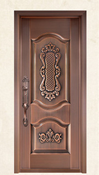 Bronze Door Security Copper Entry Doors Antique Copper Retro Door Double Gate Entry Doors H-c4