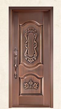 Bronze Door Security Copper Entry Doors Antique Copper Retro Door Double Gate Entry Doors H-c4