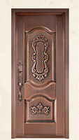 Bronze door security copper entry doors antique Copper Retro Door Double Gate Entry Doors H c4