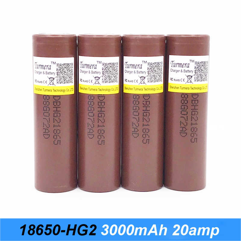 battery 18650 hg2 3000mah 30a discharge current for screwdriver shura shurik battery and electric cigarette Turmera 10-100pcs