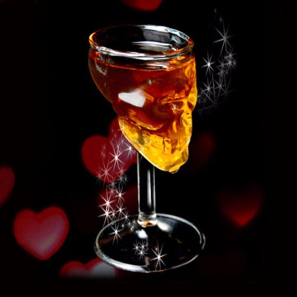 Verre à vin et whisky tête de mort 75 ml