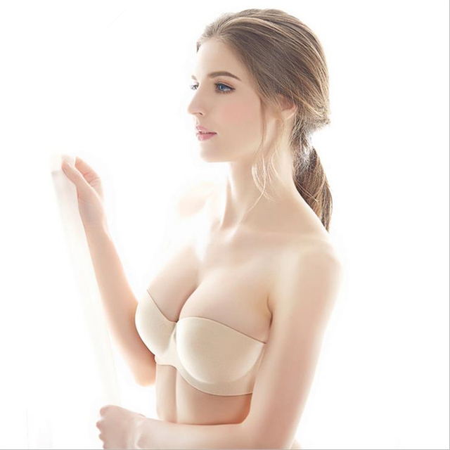 3e0f94fbda DoreenBow Sexy Women Strapless Invisible Bra Push Up high quality Underwire  Seamless Bra Underwear Black Nude For Wedding Party