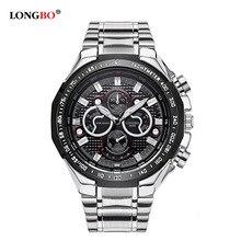 2018 Luxury Brand LONGBO Fashion Business Quartz Watch Men Casual Sports Army Military Wristwatch Anlog Clock Relogio Masculino