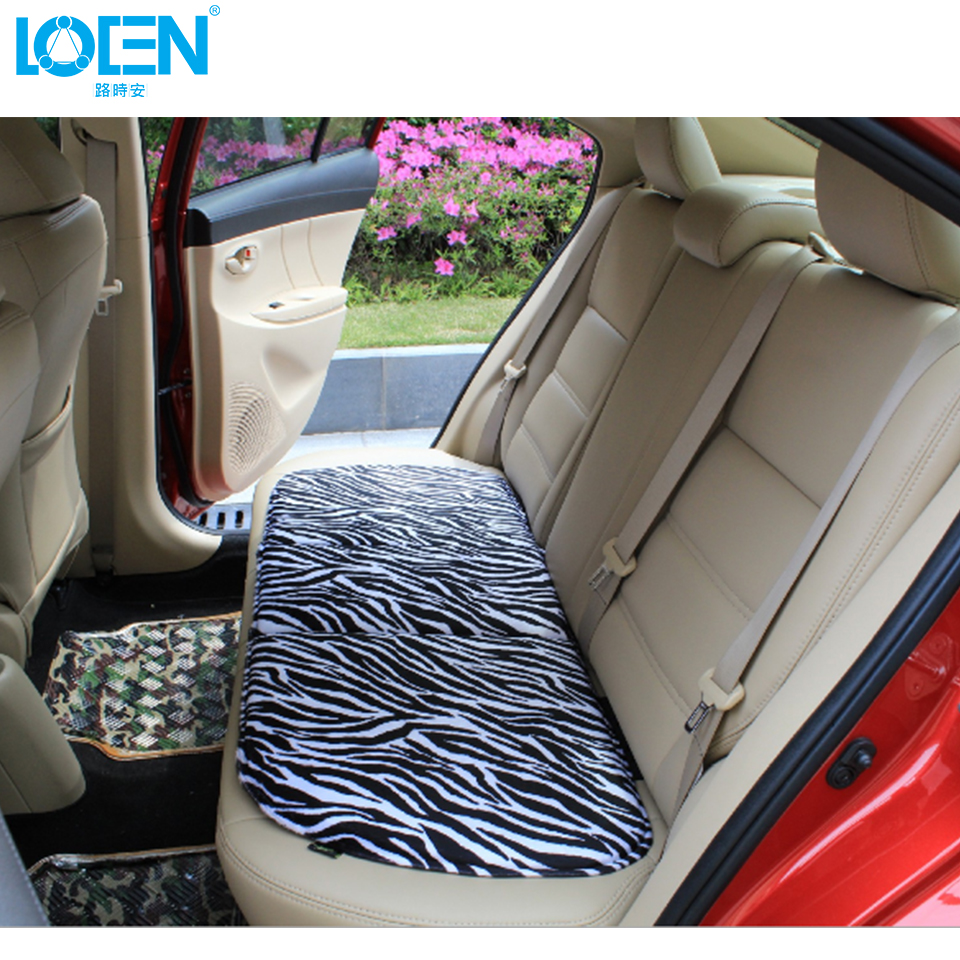 Short Plush White Zebra Front Rear Car Seat Cover Pad Universal Fits ...