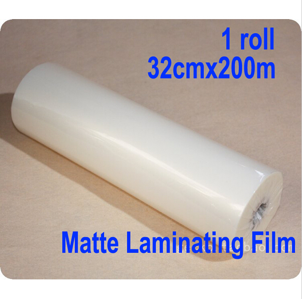 Free shipping 1 roll 13x 656'/32cmx200m Matte Hot Laminating Film 1 Core Laminator quality guarantee yellow matte vinyl wrap film foil car sticker with air bubble free fedex free shipping size 1 52 30m roll
