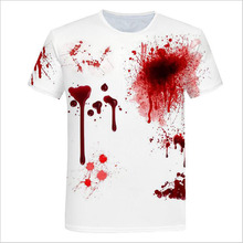 Funny T-shirt Men Summer fashion Blood 3D Print Short Sleeve O-Neck T-Shirt Top T-shirt Tops Casual Gift NEW 2019 Haloween 2019 summer new style 3d kid t shirt cartoon super mario 3d print t shirt funny drugs casual gamer o neck 3d tshirt t shirts top
