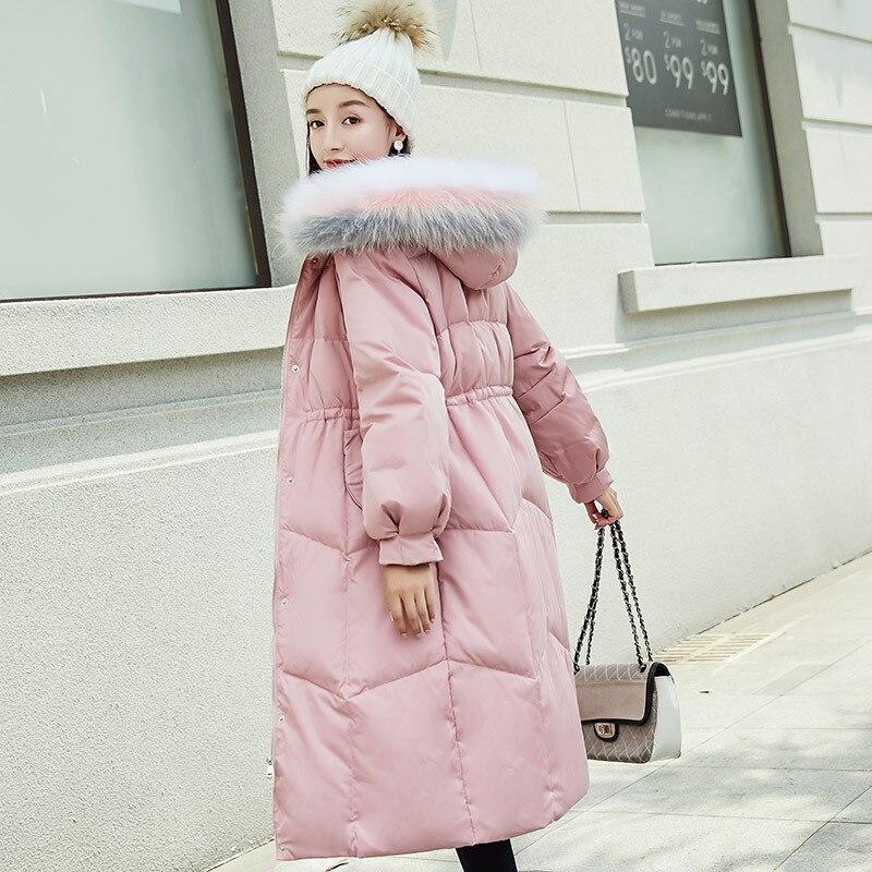 Minceur Grand Raton Col black Taille Habillement De Femmes Vers Luxe pink Le D'hiver Gradient Noble Longtemps Veste Beige Couleur Bas Fourrure Laveur n6PCqRw0O