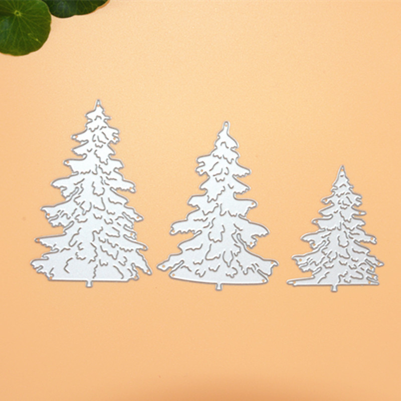 Three trees Metal Die Cutting Scrapbooking Embossing Dies Cut Stencils Decorative Cards DIY album Card Paper Card Maker snowflake hollow box metal die cutting scrapbooking embossing dies cut stencils decorative cards diy album card paper card maker