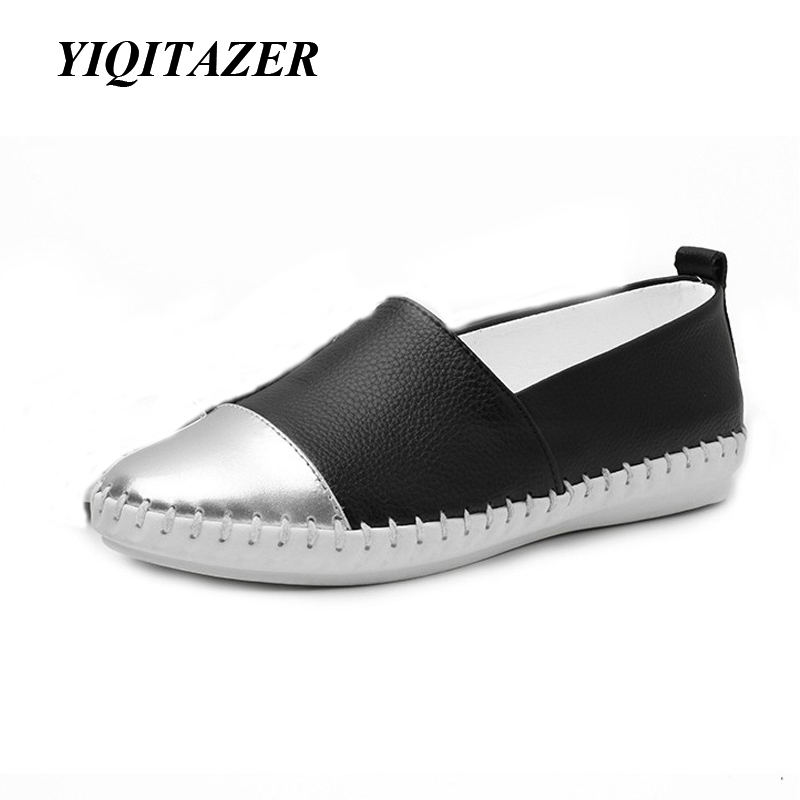 YIQITAZER 2018 New Summer Slipony Lofer Womens shoes Flats, Nice Ladies Dress 뾰족한 발가락 좁은 캐주얼 Shoes Women 로퍼