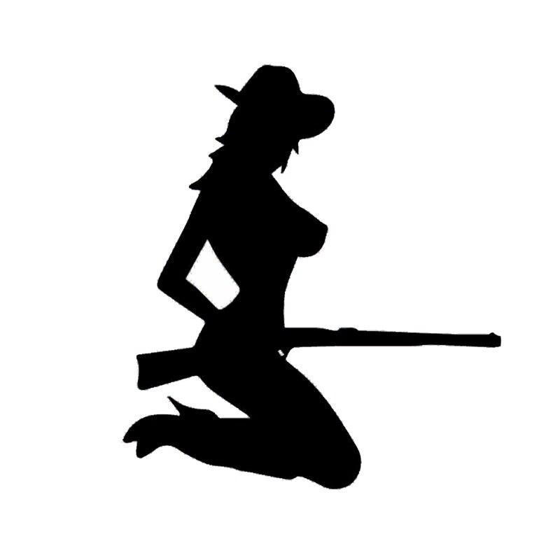 CM Sexy Country Girl Gun Car Decals Cartoon Vinyl Car - Country girl custom vinyl decals for trucks
